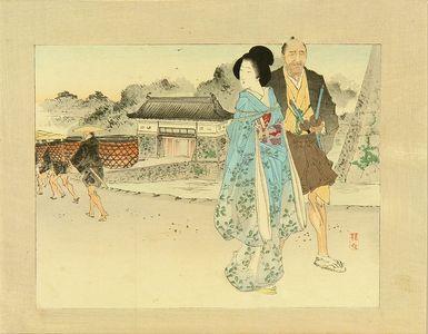 Takeuchi Keishu: Frontispiece of a novel, 1893 - Hara Shobō