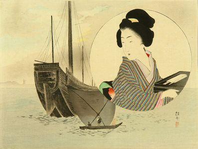 武内桂舟: Frontispiece of a novel, 1900 - 原書房
