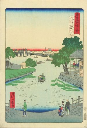 一景: Kurahashi Bridge, Nakano, from - 原書房