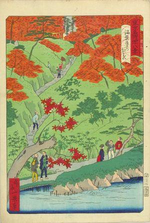 一景: Autumn leaves at Kaian Temple, from - 原書房