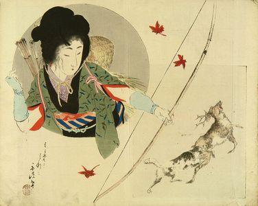 富岡英泉: Frontispiece of a novel, 1897 - 原書房