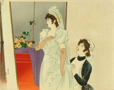 歌川国貞三代: Frontispiece of a novel, 1899 - 原書房