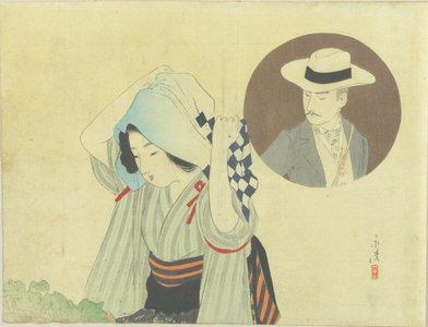 Tomioka Eisen: A frontispiece of a novel, 1900 - Hara Shobō