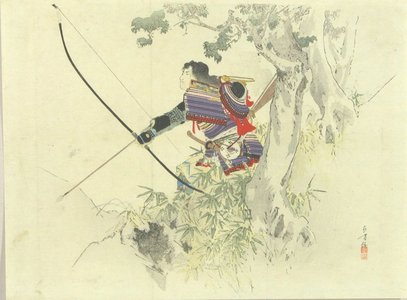 Mizuno Toshikata: A frontispiece of a novel, 1899 - Hara Shobō