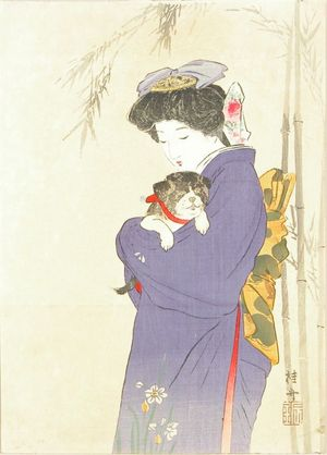 Takeuchi Keishu: A frontispiece of a novel, 1910 - Hara Shobō