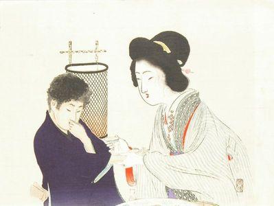 富岡英泉: A frontispiece of a novel, 1899 - 原書房