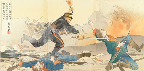 GESSAN: Scene of Japan-Russo war, triptych, 1904 - 原書房