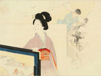 Kajita Hanko: A frontispiece of a novel in - Hara Shobō