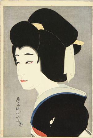 TOYONARI: A bust portrait of the actor Sawamura Sonosuke in the role of - Hara Shobō
