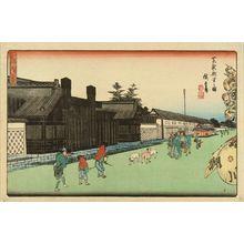 Utagawa Hiroshige: The new mint at Shiba, from - Hara Shobō