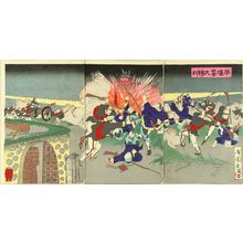 KOKUNIMASA: A scene of Shino-Japanese war, triptych, 1894 - 原書房
