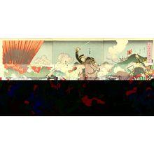 歌川国輝: A scene of Shino-Japanese war, triptych, 1894 - 原書房