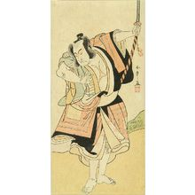 勝川春章: A fill-length portrait of the actor Ichikawa Monnosuke II, c.1777 - 原書房