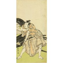 Katsukawa Shunsho: A full-length portrait of the actor Ichikawa Yaozo in the role of Sakuramaru, in the play - Hara Shobō
