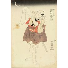 Utagawa Toyokuni I: A full-length portrait of the actor Sawamura Gennosuke, c.1810 - Hara Shobō