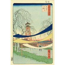 歌川広重: Hatsune riding ground, Bakurocho, from - 原書房