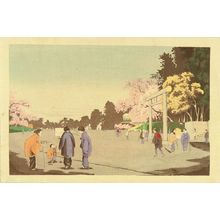 小林清親: Ueno koen gaka shasei (A painter in the Ueno Park), from - 原書房