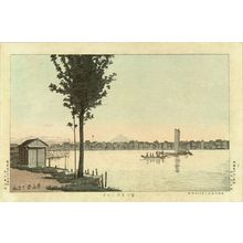 井上安治: View of Fujimi Ferry, first state, 1881 - 原書房