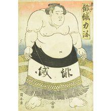 歌川国安: Portrait of the sumo wrestler Hiodoshi Rikiya, c.1824 - 原書房