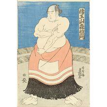 Utagawa Kunisada: A portrait of the sumo wrestler Inoyama Moriemon of Miyagi Prefecture, c.1846 - Hara Shobō