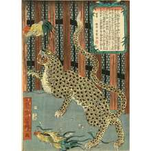 Utagawa Yoshitoyo: The exhibition of a tiger, 1860 - Hara Shobō