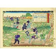 Utagawa Hiroshige III: Digging pueraria root in Yamato Province, from - Hara Shobō