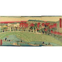 HIROSHIGEIII: View of Kyobashi, triptych, 1875 - Hara Shobō