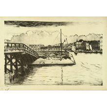 Oda Kazuma: Distant view of Tenjin Bridge, from - Hara Shobō