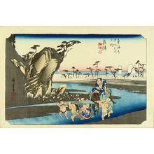 Utagawa Hiroshige: Okitsu, from - Hara Shobō