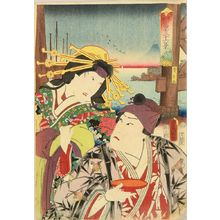 Utagawa Kunisada: Eitai Bridge, from - Hara Shobō