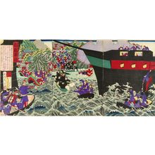 TORASHIGE: An incident at Korea, triptych, 1882 - 原書房