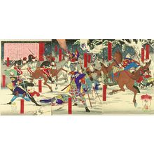 早川松山: A scene of the battle of Kagoshima, triptych, 1877 - 原書房