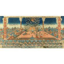 Utagawa Sadahide: A scene of - Hara Shobō