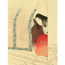 Mizuno Toshikata: A frontispiece of a novel in - Hara Shobō