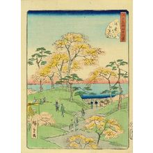 Utagawa Hiroshige II: Autumn leaves at Kaianji Temple, from - Hara Shobō