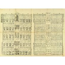 UNSIGNED: Comparison of popular matters of Tokyo, 1888 - 原書房
