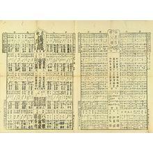 UNSIGNED: Comparison of popular matters of Tokyo, 1888 - Hara Shobō