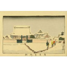 井上安治: East Gate of Asakusa Temple, from - 原書房