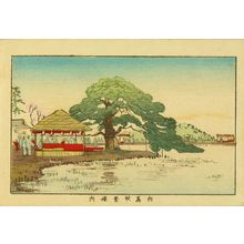 井上安治: Akiba Shrine, Mukojima, from - 原書房