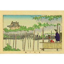 井上安治: Wisteria at Kameido, from - 原書房