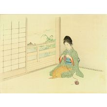 Kajita Hanko: Frontispiece of a novel, from - Hara Shobō