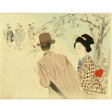 Takeuchi Keishu: Frontispiece of a novel, from - Hara Shobō