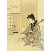 Takeuchi Keishu: Frontispiece of a novel, from - Hara Shobō