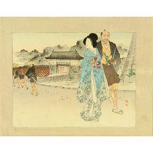武内桂舟: Frontispiece of a novel, 1893 - 原書房