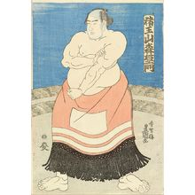歌川国貞: A portrait of the sumo wrestler Inoyama Moriemon of Miyagi Prefecture, c.1846 - 原書房