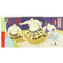 TAMANAMI: A Yokozuna entering the ring, triptych, 1901 - Hara Shobō