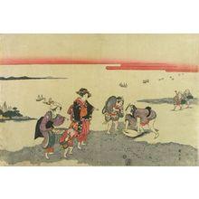 Kikugawa Eizan: Clam digging - Hara Shobō