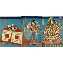 TOYOKUNI ��: A scene of a kabuki performance, Ichikawa Danjuro performing - 原書房