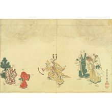 北尾重政: A plate from an illustrated book, c.1795 - 原書房