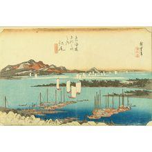 歌川広重: Ejiri, Miho embo (Distant view of Miho), from - 原書房